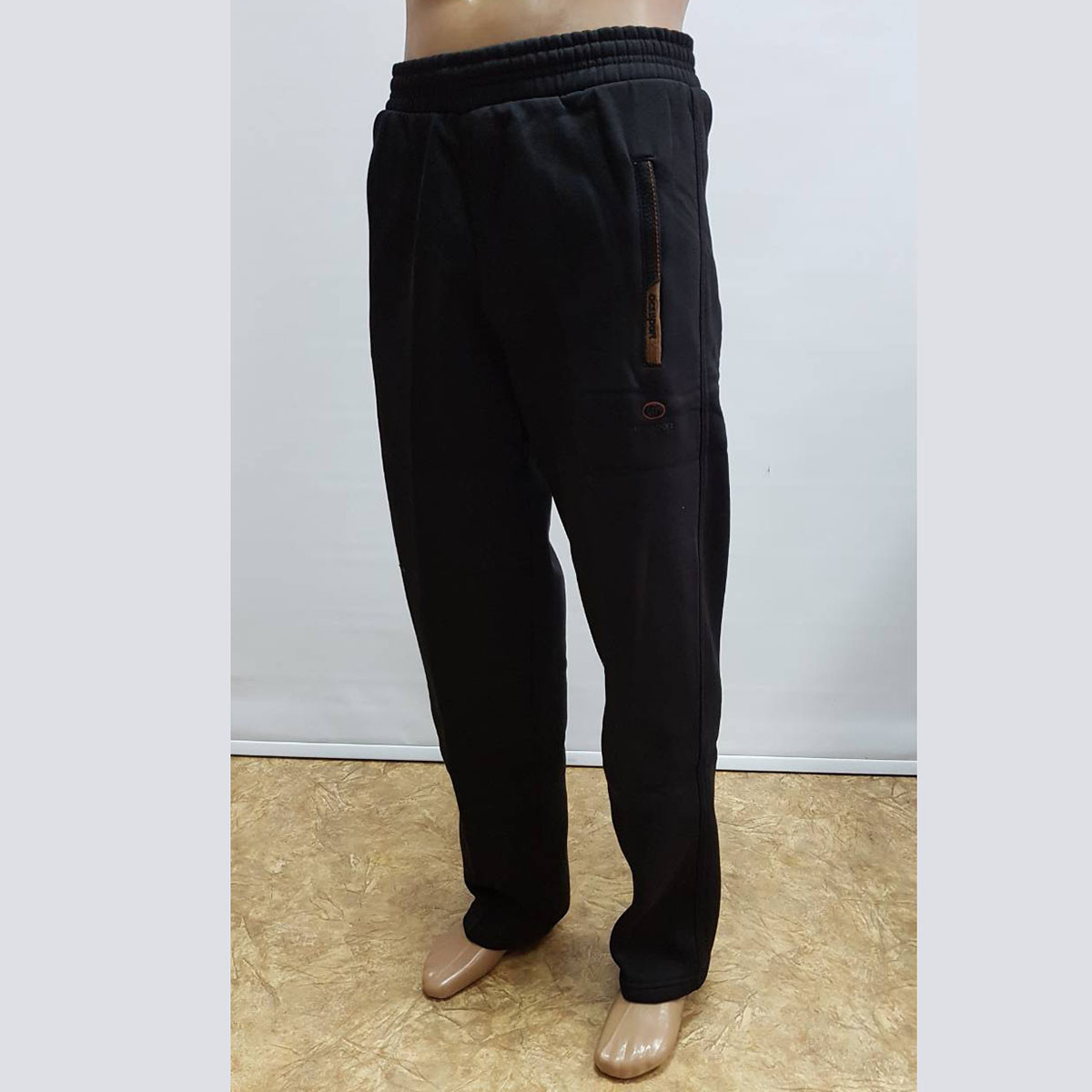 Мужские теплые спортивные штаны трехнитка пр-во Турция KD1281