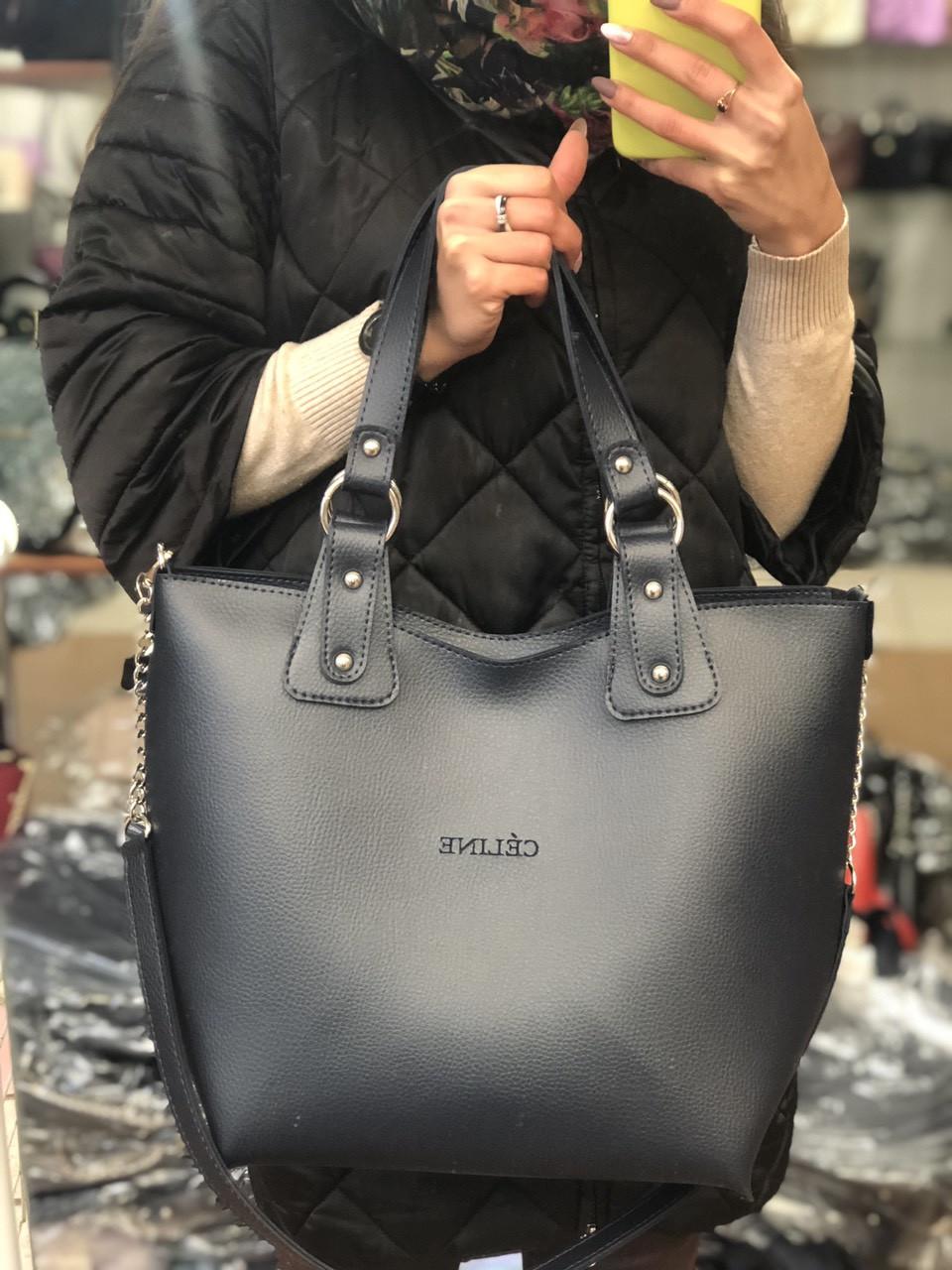 58d68eb1942b Сумка женская с косметичкой в разных цветах - Оптово-розничный магазин