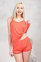 Пижама трикотажная с шортиками «Sleep-1» / цвет корал