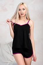 Пижама трикотажная с шортиками «Sleep-1» / цвет чёрный