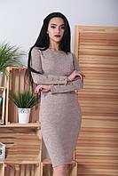 """Платье ангоровое  """"Перрис"""" с пуговицами на рукавах"""