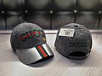Новые Женские Брендовые Кепки Gucci VIP-Качества 100% Cotton Кепка Гуччи Для Девушки Серая Кепка