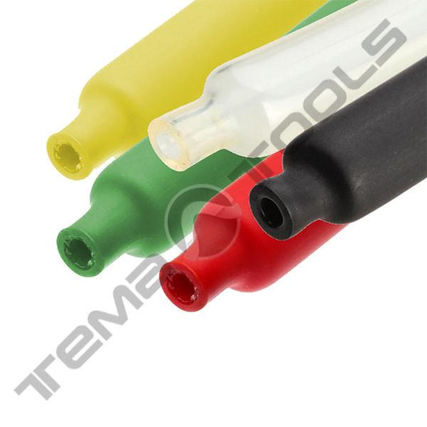 Трубка термоусадочная с клеем 4,8/1,6 мм 1 м 3:1 цветная - клеевая трубка ТУТ