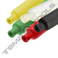 Трубка термоусадочная с клеем 6,4/2,2 мм 1 м 3:1 цветная - клеевая трубка ТУТ