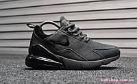 Зимние Мужские кроссовки Nike Air Max 270 Gray Suede (WNTR), Замша