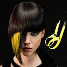 💛 Цветные  пряди волос на заколках зажимах, желтые 💛 , фото 4