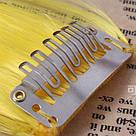 💛 Цветные  пряди волос на заколках зажимах, желтые 💛 , фото 3