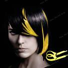 💛 Цветные  пряди волос на заколках зажимах, желтые 💛 , фото 9