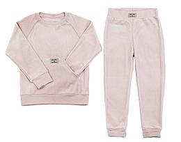 Велюровый костюм Mi Mi by Andriana для девочки 5-8 лет, розовый