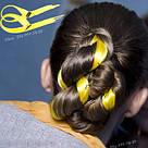 💛 Желтый мини канекалон на заколке 💛 , фото 9