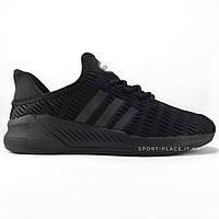 Мужские кроссовки Adidas Climacool all black (лицензия)