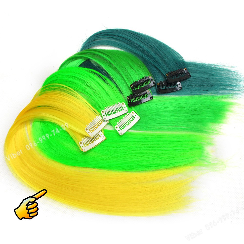 💛 Желтые пряди на клипсах заколках 💛