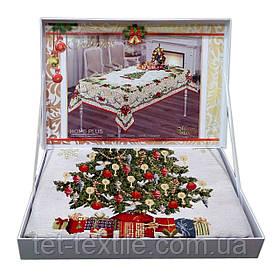 """Скатерть """"Новогодняя ёлка"""" в чемоданчике Home Plus (150x220cm.)"""