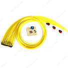 💛 Цветные пряди на заколках золотисто желтые 💛 , фото 2