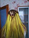 💛 Цветные пряди на заколках золотисто желтые 💛 , фото 7