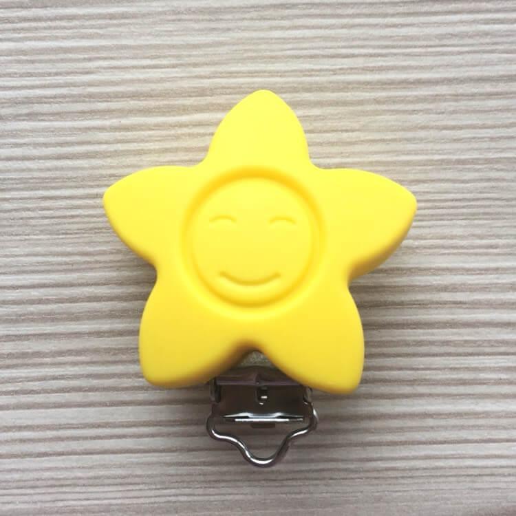 КЛИПСА звезда (желтая) силиконовая для пустышки