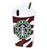 Чехол-накладка Starbucks на IPhone X / 10 Brown