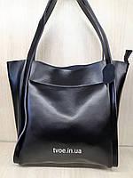 Женская большая кожаная сумка , фото 1