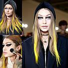 💛 Яркие пряди на заколках как у Донателлы Версаче желтые 💛 , фото 2