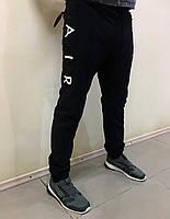 1f4c706c Зимние черные спортивные штаны на флисе Nike Air на манжете плащевка/стрейч  (Реплика)