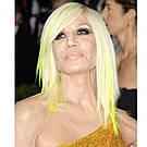 💛 Цветные пряди на заколках как у Донателлы Версаче желтые 💛 , фото 4