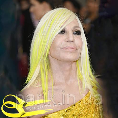 💛 Пряди цветные  неоново желтые как у Донателлы Версаче 💛
