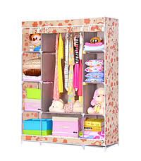 Мобильный тканевой шкаф для одежды HCX Storage Wardrobe №68130, фото 3