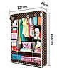 Мобильный тканевой шкаф для одежды HCX Storage Wardrobe №68130, фото 5