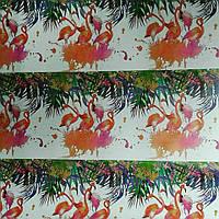 "Бумага для упаковки №9105 ""Фламинго"" 80гр, 52*75см, 50шт в ОРР"