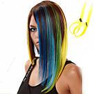 💛 Волосы термо желтого цвета на заколке клипсе 💛 , фото 8