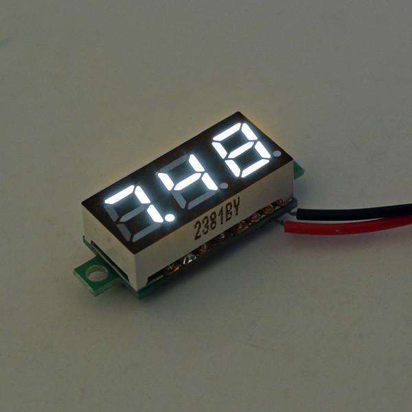 10Pcs Geekcreit® White 0.28 дюймов 3.0V-30V Миниатюрный измеритель напряжения вольтметра Voltmeter 1TopShop