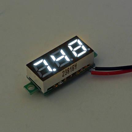 10Pcs Geekcreit® White 0.28 дюймов 3.0V-30V Миниатюрный измеритель напряжения вольтметра Voltmeter 1TopShop, фото 2