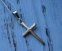 Серебряный крест с золотой вставкой, фото 1