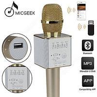 Беспроводной микрофон караоке bluetooth MicGeek Q9 Karaoke с чехлом,  микрофон со встроенной колонкой, фото 1
