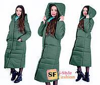 Зимнее пальто с капюшоном Кэрол 42-56 р 5 цветов 9f16668cd6b7b