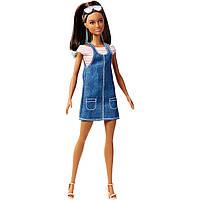 Кукла Барби модница в джинсовом сарафане Barbie Overall Awesome Fashion Doll