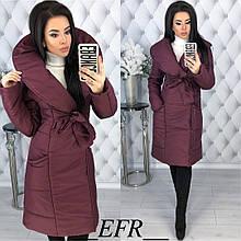 Женская куртка, плащёвка + синтепон 200, р-р С-М; Л-ХЛ (бордовый)