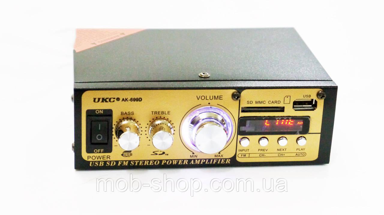 Усилитель звука UKC AK-699D USB+SD+FM радио