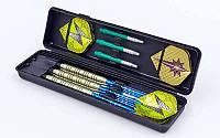 Дротики для игры в дартс цилиндрические BL-3501 Baili (сталь,вес 18гр,3шт.,+3хвост,+6опер, футляр)