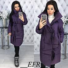 Женская куртка, плащёвка + синтепон 200, р-р С-М; Л-ХЛ (баклажановый)
