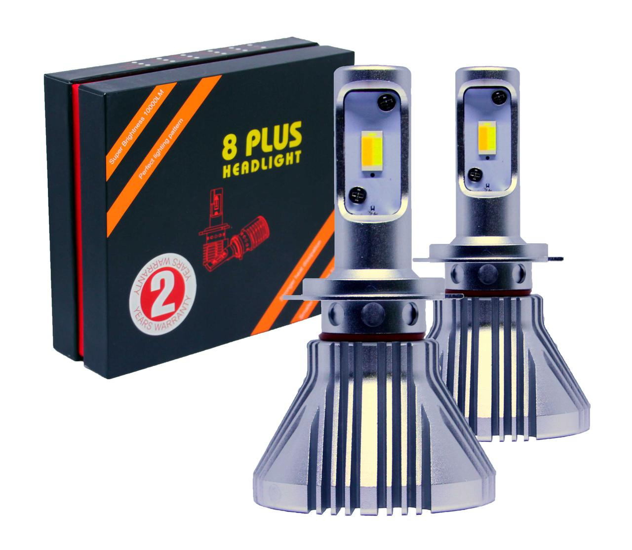 Лампа светодиодная для фар 8PLUS HEADLIGHT  H7  2800/4500/6000K 10000Lm, 2 шт/компл.