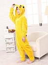 Пижама кигуруми Взрослые и Детские пикачу желтый, фото 2