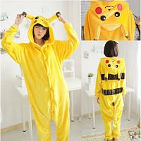 Пижама кигуруми пикачу желтый