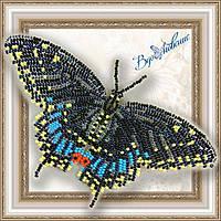 """Набор для вышивки бисером Объемная бабочка """"Черный Махаон"""" BGP-003"""