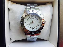 Женские наручные часы Pandora (Пандора),цвет корпуса нержавеющая сталь и белый циферблат