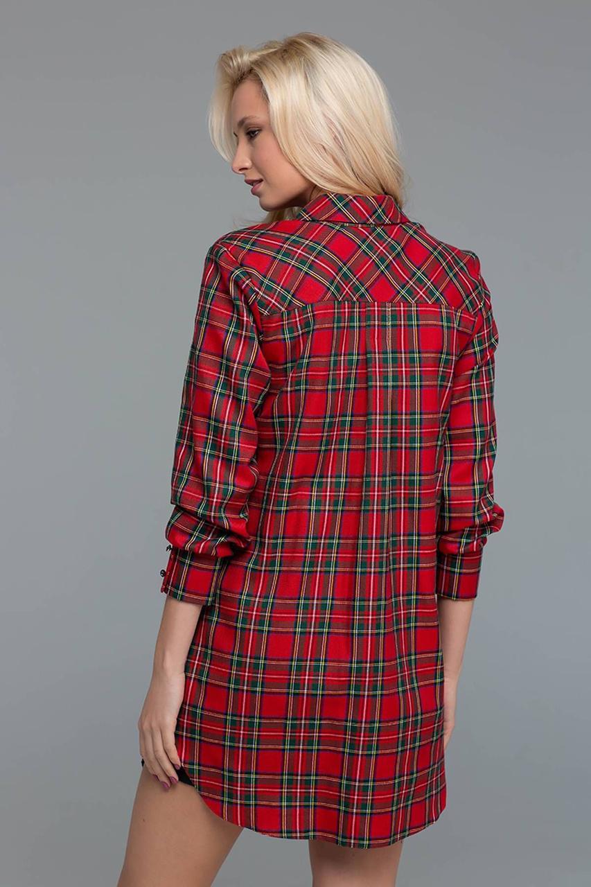 Купить Стильное платье-рубашка в клетку по выгодной цене в Украине ... 8375d58ccbaa5