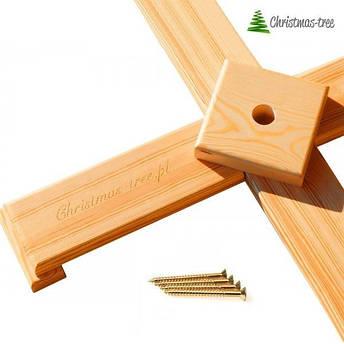 """Ялинка """"Біла"""" на дерев'яній підставці 1,55 м + Гірлянда у подарунок, фото 2"""