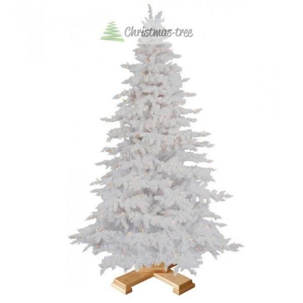 """Ялинка """"Біла"""" на дерев'яній підставці 1,85 м + Гірлянда у подарунок"""