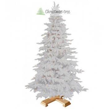 """Ялинка """"Біла"""" на дерев'яній підставці 3 м + Гірлянда у подарунок, фото 2"""