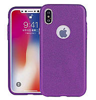 Чехол-накладка TOTO TPU Case Rose series 3 in 1 на IPhone X / 10 Purple